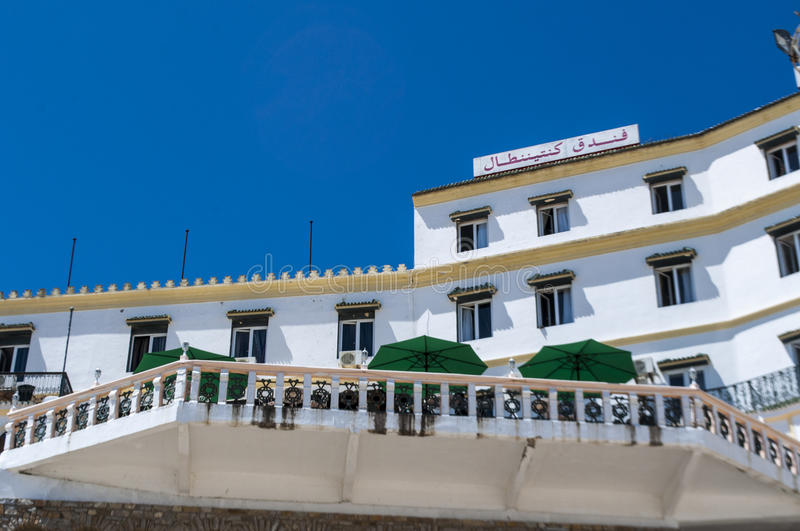 morocco 22042016 view of the hotel continental one of the oldest hotels in the medina area of tangier the african city on the maghreb coast at the