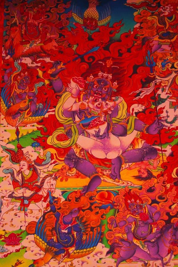 Tangka art. The tangka art is very engaging royalty free stock photo