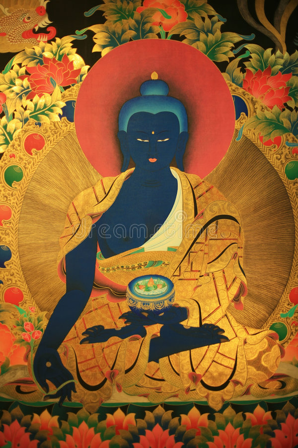 Tangka art. The tangka art is very populate in tibet royalty free stock image