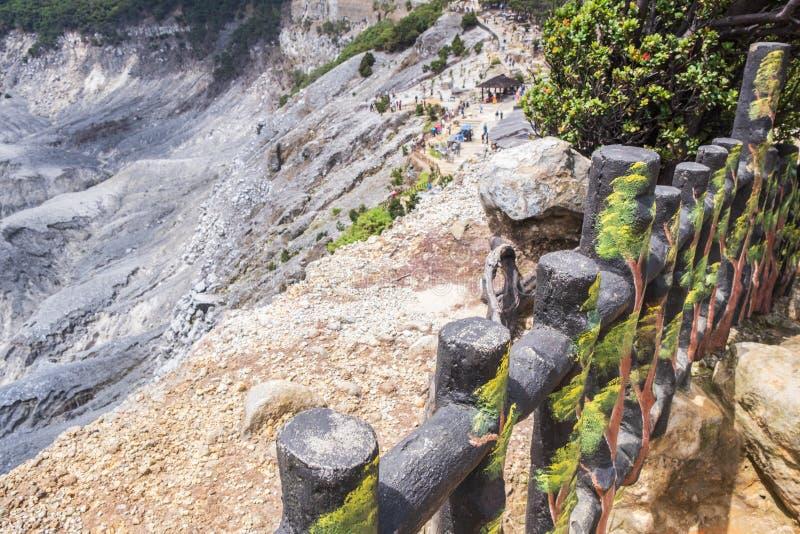 Tangkuban Perahu, ein stratovolcano 30 Kilometer nördlich der Stadt von Bandung, die Provinzhauptstadt von West-Java, Indonesien lizenzfreies stockbild