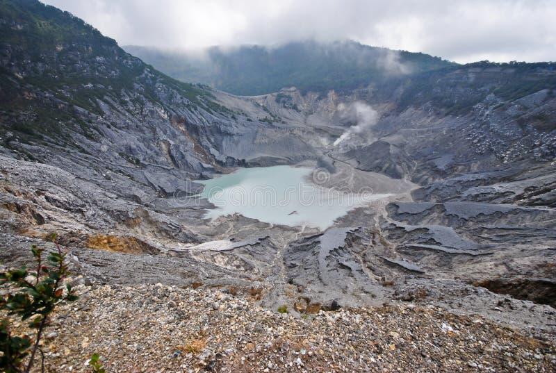 Tangkuban-perahu valcono Berg in West-Java stockfoto