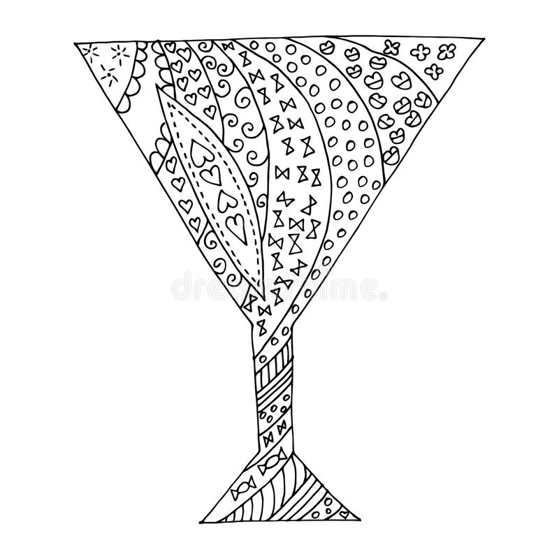 Tangl en verre noir et blanc de zen, dudl de zen Tatouage en verre, vecteur en verre illustration stock