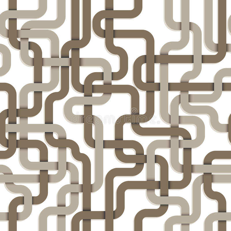 Tangled connections seamless pattern. stock illustration