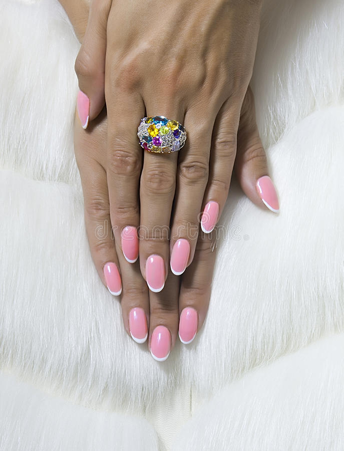 Tangled Female Fingers With Nice Nails Stock Photo - Image of ...