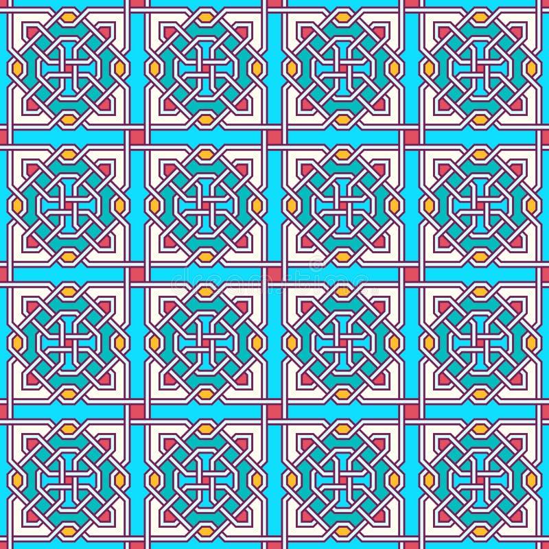 Tangled Modern Pattern royalty free illustration