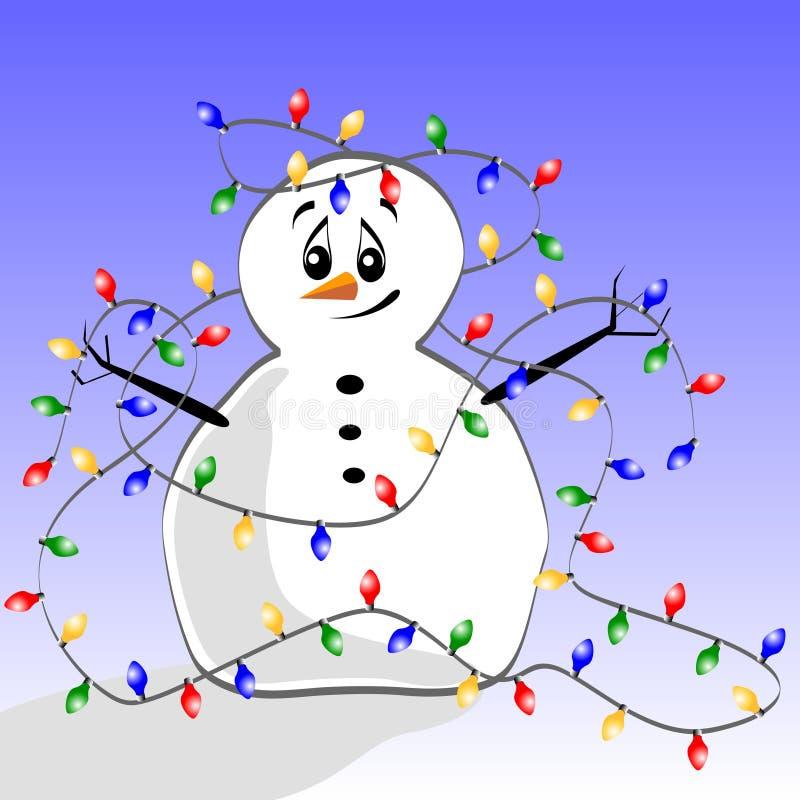 Tangled Snowman vector illustration