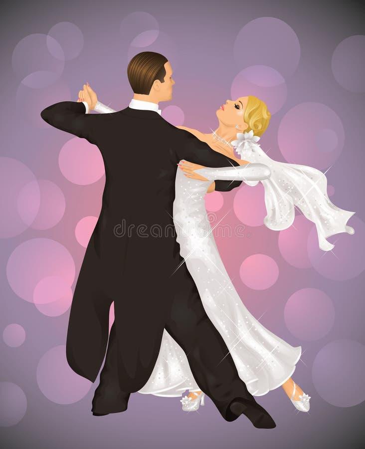 tango ślub royalty ilustracja
