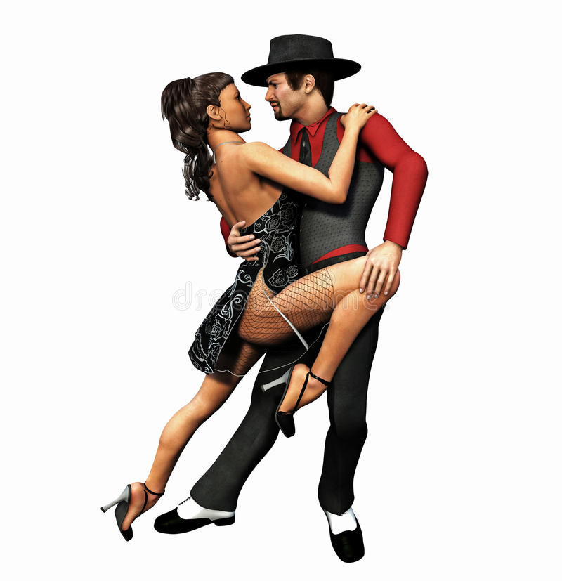 tango royaltyfri illustrationer