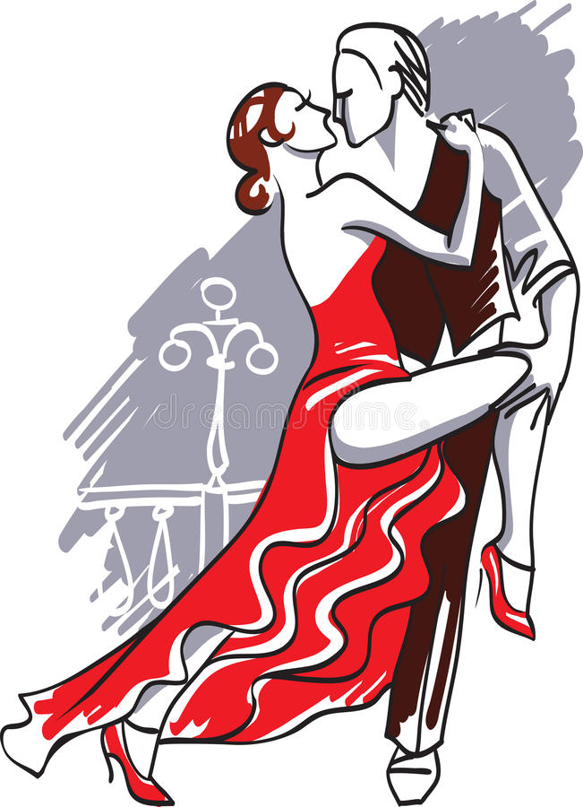 tango vektor illustrationer