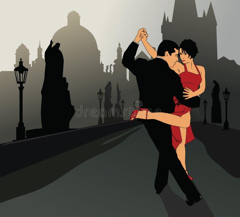 Tango argentino 4 ilustração do vetor
