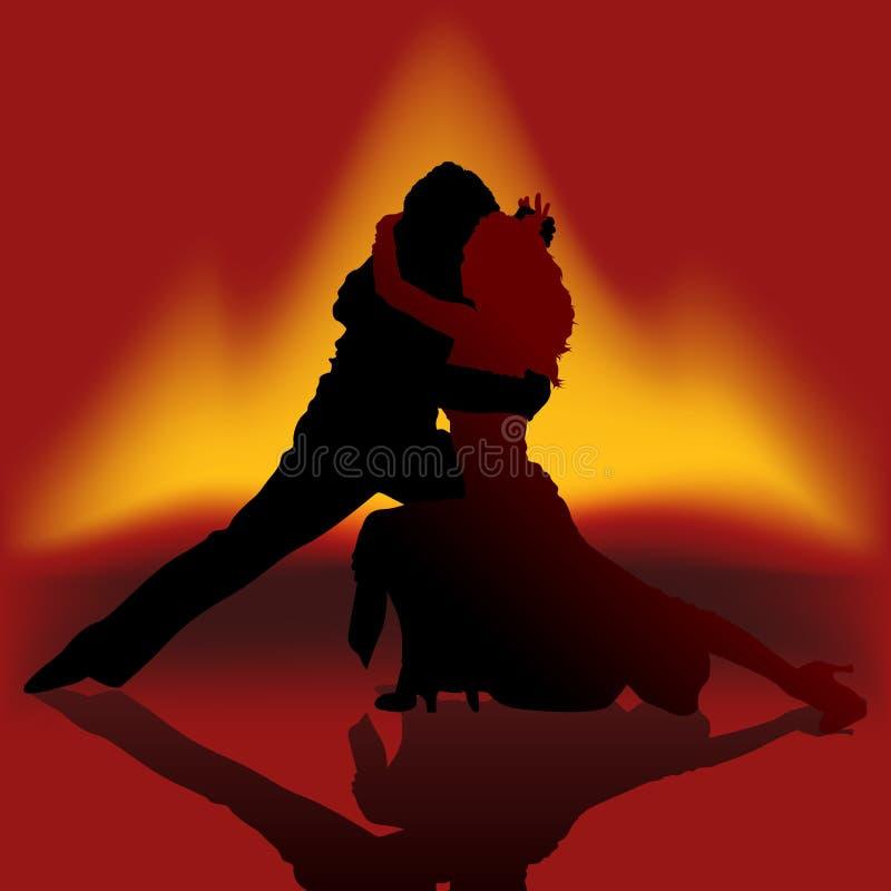 Tango d'incendie de danse illustration stock
