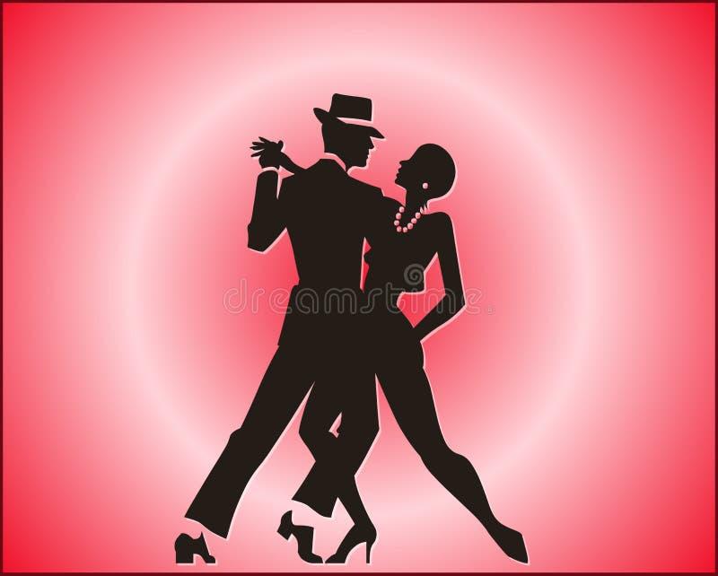 Tango dance couple royalty free stock photo