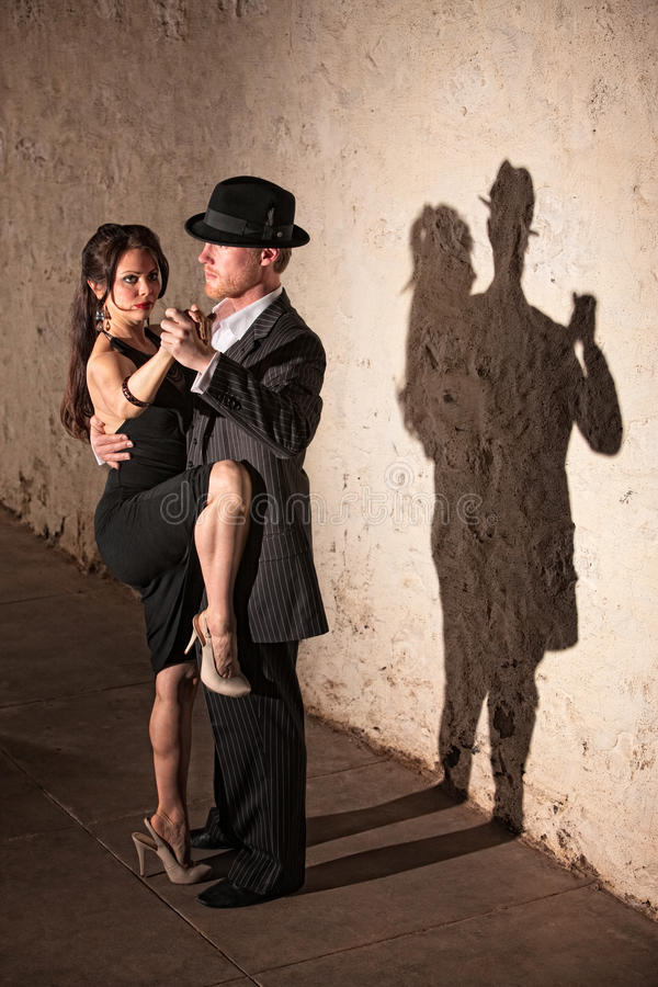 Tango Dancer with Leg On Partner stock photo