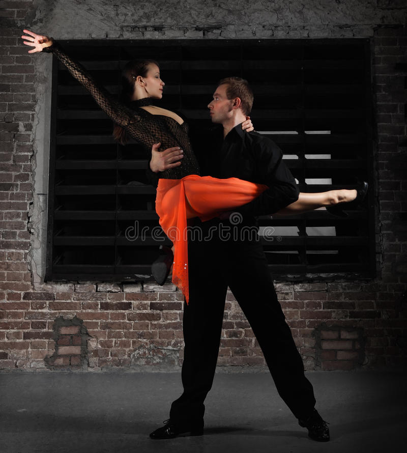 Download Tango dancers in action stock image. Image of emotions - 24885541