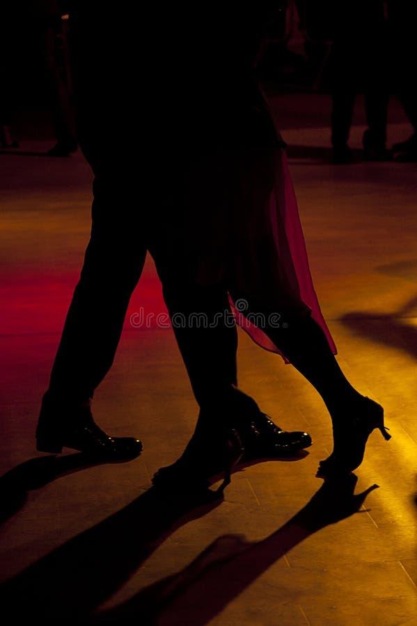 Tango dancers royalty free stock photos
