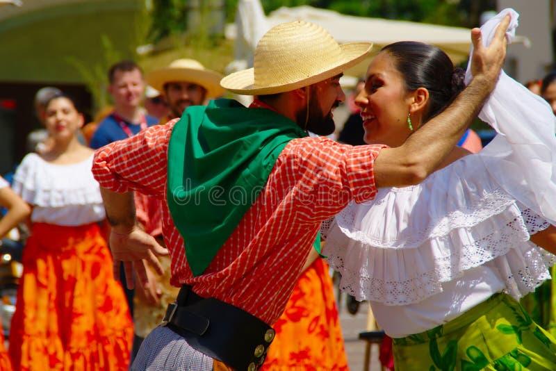 Tango Dancers, Folkart 2016, Maribor, Slovenia stock photography