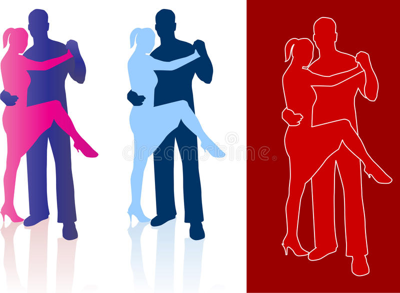 Download Tango Dancers In Silhouette Stock Vector - Image: 12355461