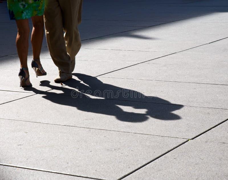Tango dancing Paris royalty free stock image