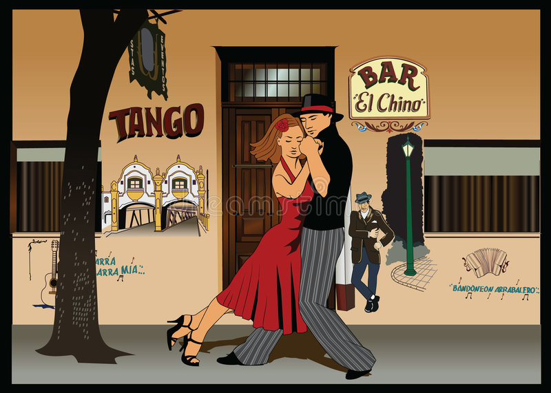 tango de 2 Argentins illustration libre de droits