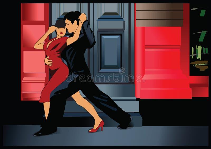 tango de 3 Argentins illustration de vecteur