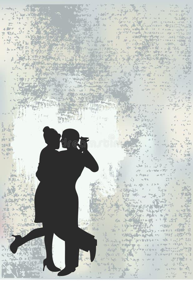 tango de grunge de fond illustration stock