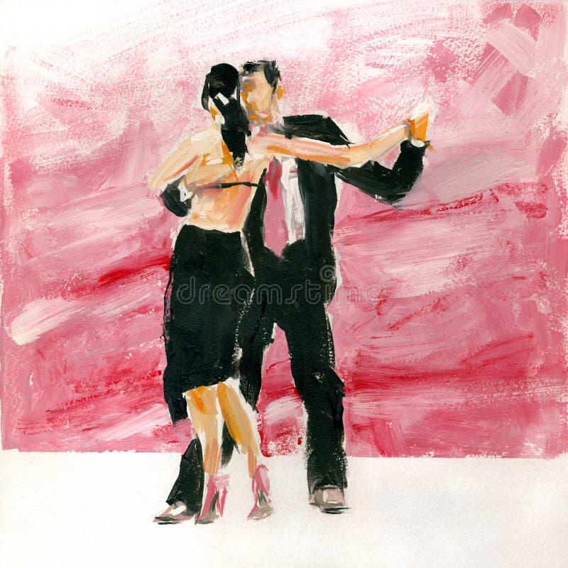 Tango do guache ilustração do vetor