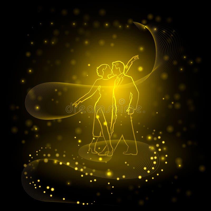Tango dourado ilustração royalty free