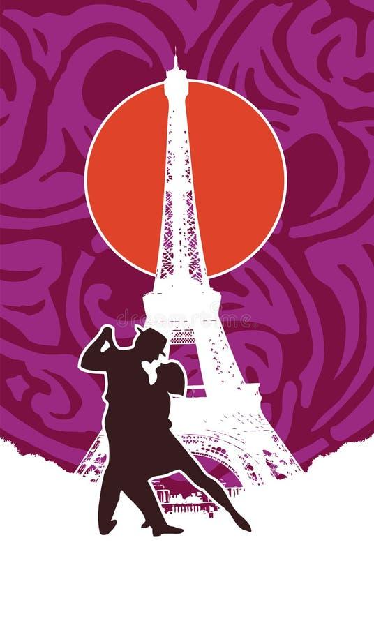 Tango em Paris ilustração stock
