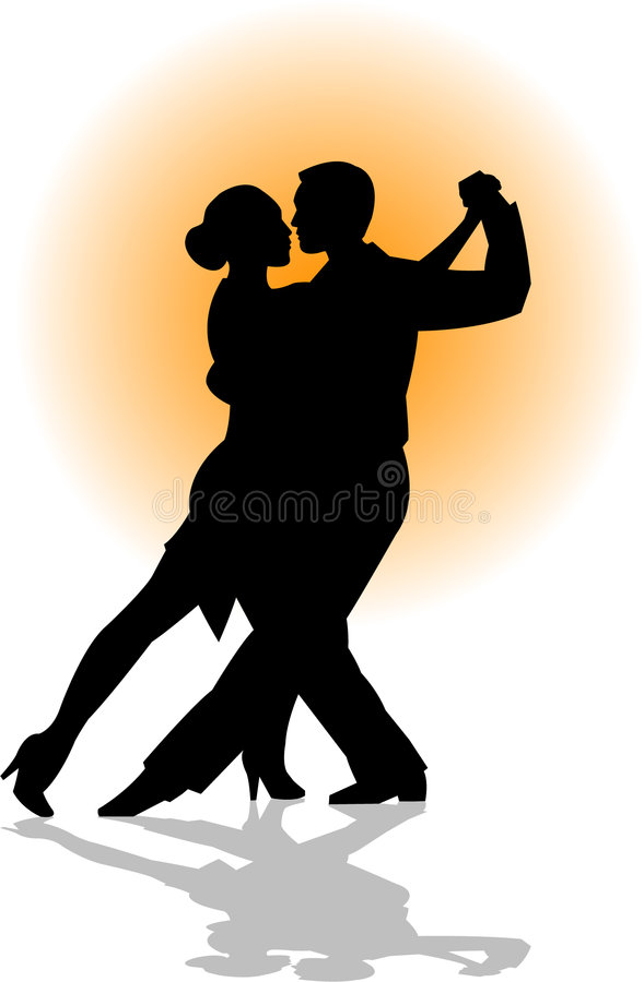 tango för pardanseps vektor illustrationer