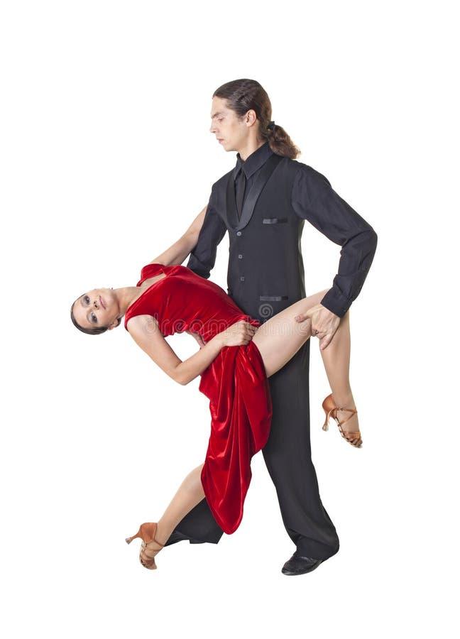 Tango joven del baile de los pares fotos de archivo libres de regalías