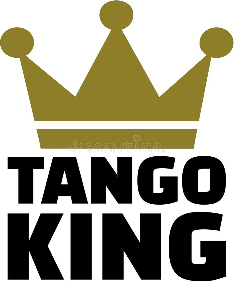 Tango king with crown stock illustration