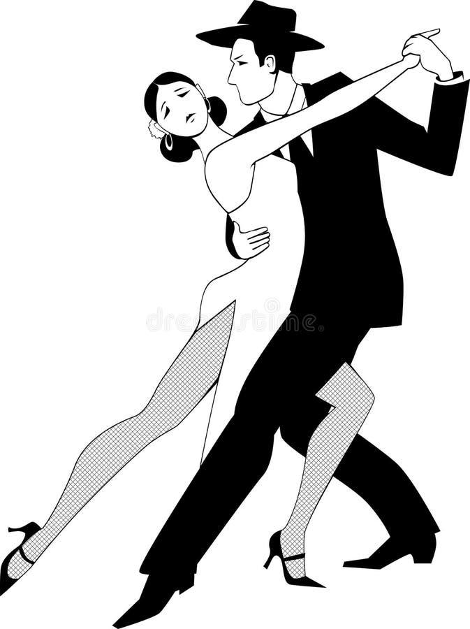 Tango klamerki sztuka royalty ilustracja