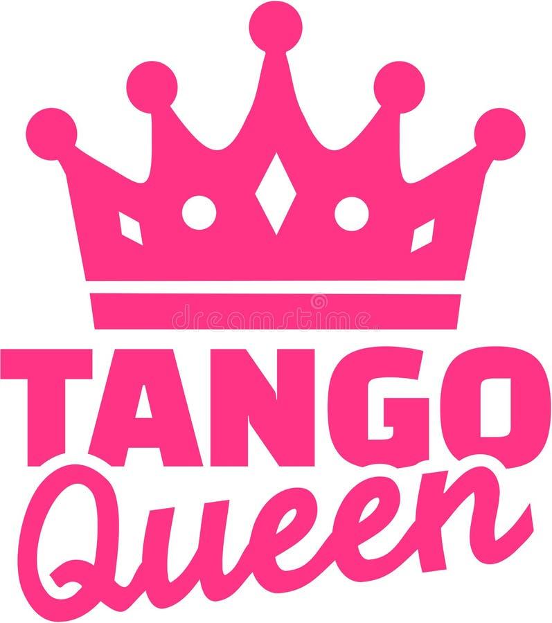 Tango królowa z koroną ilustracja wektor