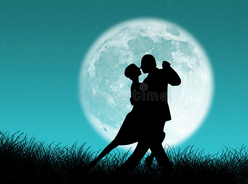 tango księżyca royalty ilustracja