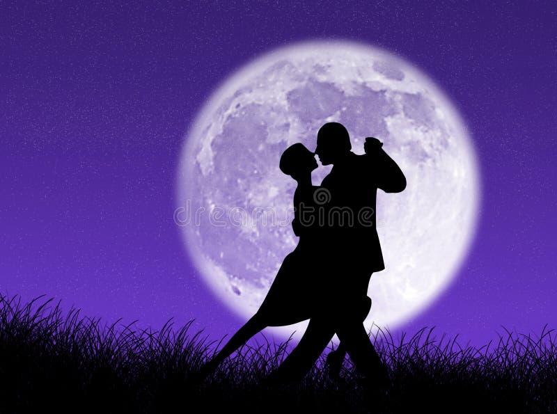 Tango na lua ilustração royalty free
