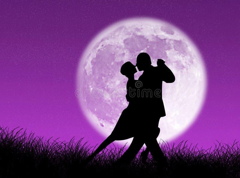 Tango nella luna royalty illustrazione gratis