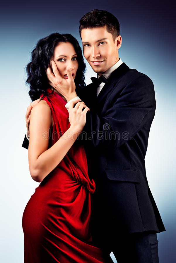 Tango pair stock photos