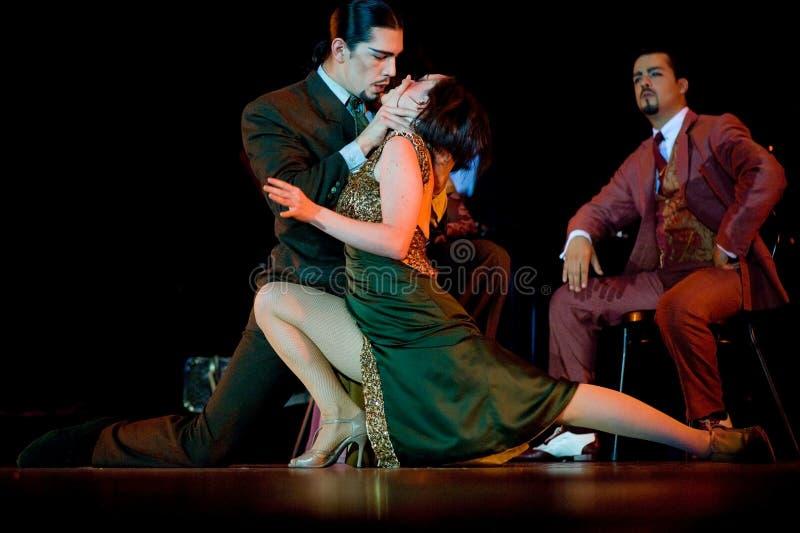 Tango Pasion, Ultimo Tango Show. BUCHAREST, ROMANIA - NOVEMBER 16: Tango Pasion, Ultimo Tango Show, on November 16 at Palace Hall, 2010, Bucharest, Romania royalty free stock image