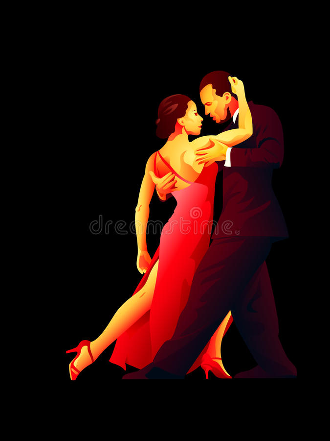 Download Tango passion stock vector. Image of leisure, couple - 26457803