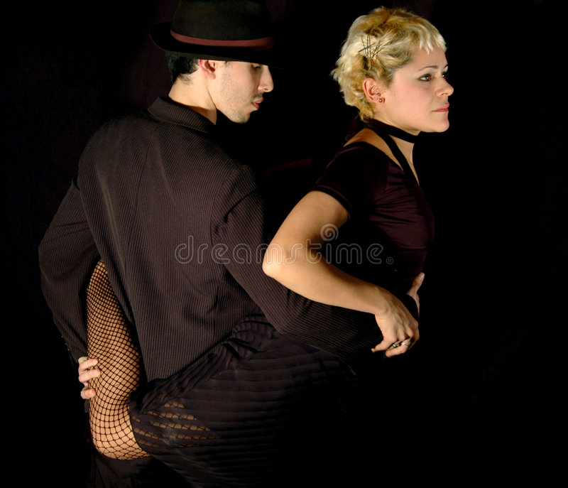 Tango pose royalty free stock images