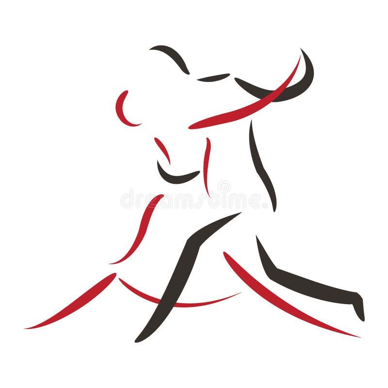 Tango taniec ilustracji