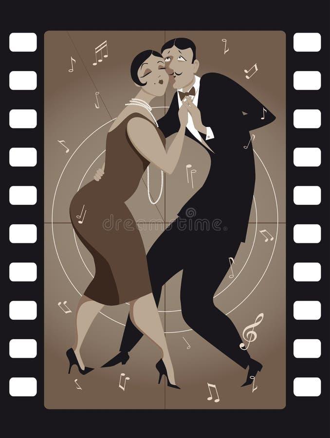 Tango trimmar stock illustrationer