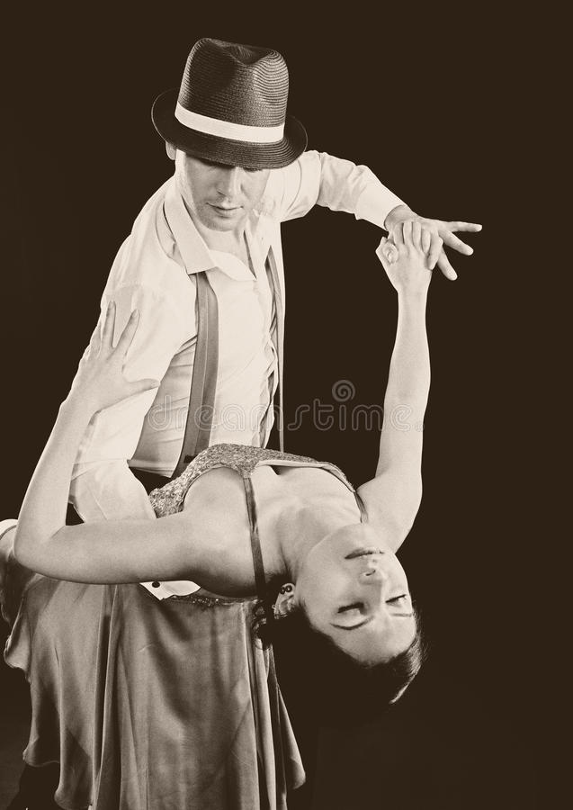 Tangodans stock afbeeldingen