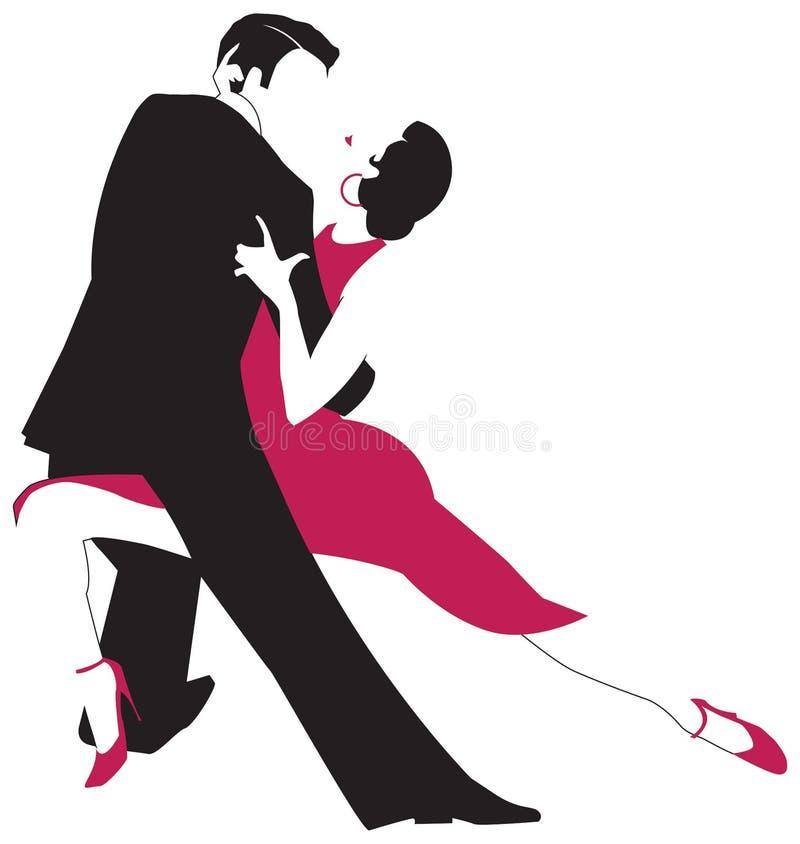 Tangodansare royaltyfri illustrationer