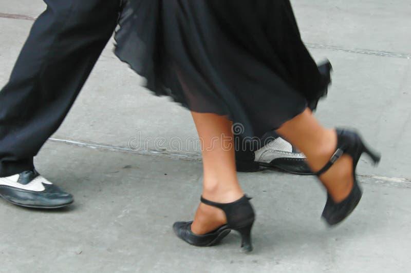 Tangofüße stockfoto