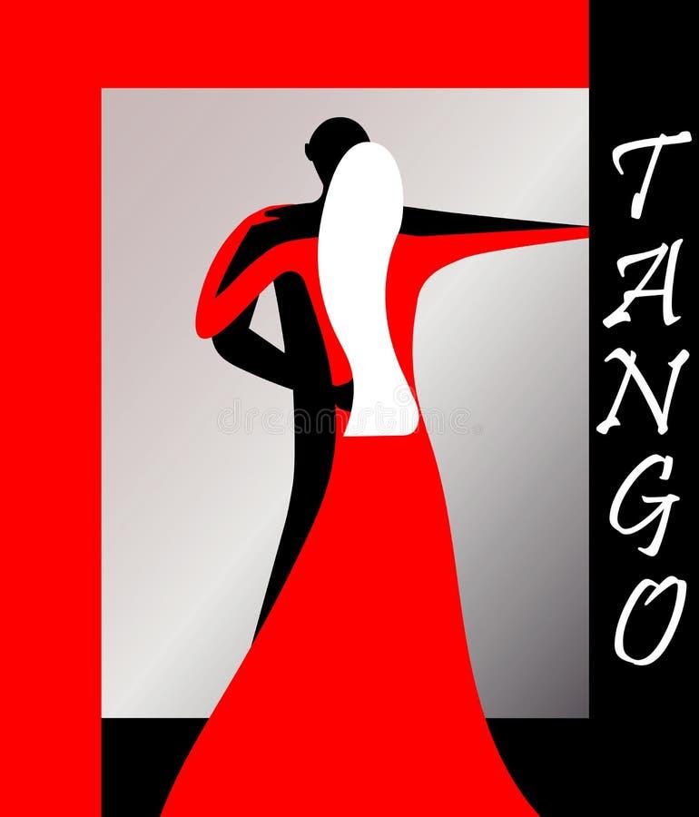 Tangovektor EPS 8 stock illustrationer