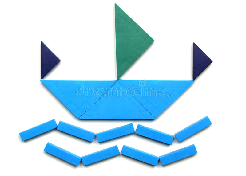 tangram ilustracja wektor