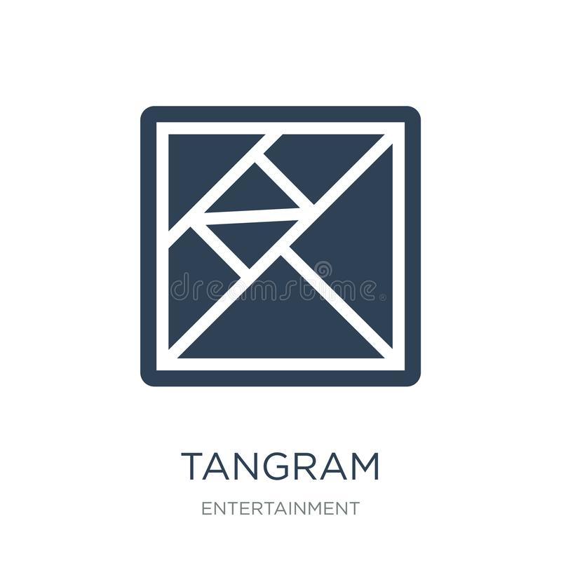 tangram icon in trendy design style. tangram icon isolated on white background. tangram vector icon simple and modern flat symbol royalty free illustration