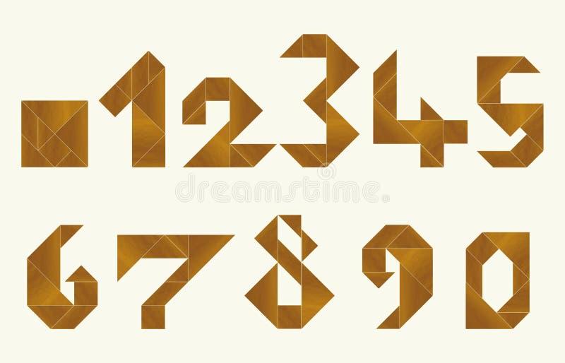 Tangram, números ilustração do vetor