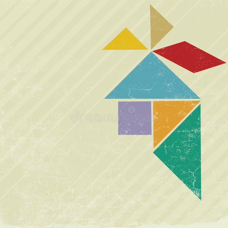 Tangram principal illustration de vecteur